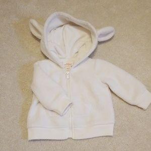 Fuzzy warm baby jacket